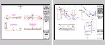 screenshot showcasing some of Force 5 Engineering CAD draughting work