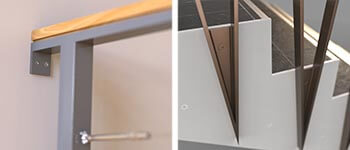 a selection of 3D renders completed by Force 5, featuring two different steel balustrades