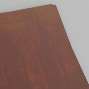 sheet of oxidised weathering steel