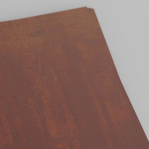 sheet of oxidised weathering steel