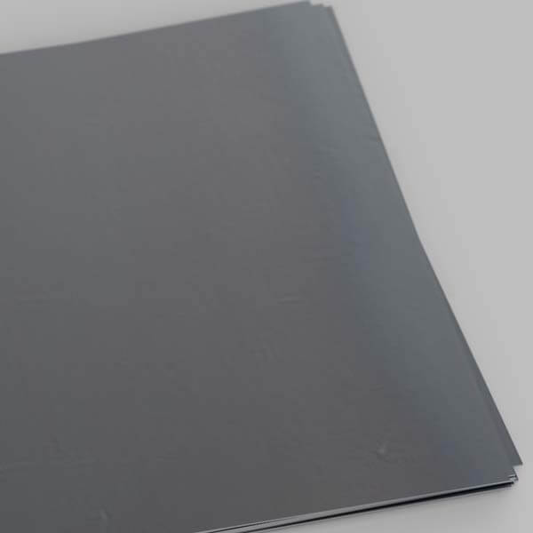 a sheet of hot rolled mild steel with characteristic blueing