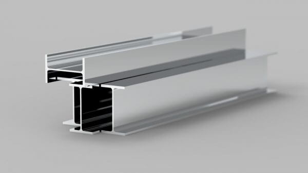 heavy carbon steel beam with chrome finish