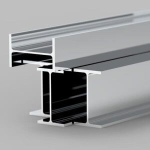 steel beam with mirror finish