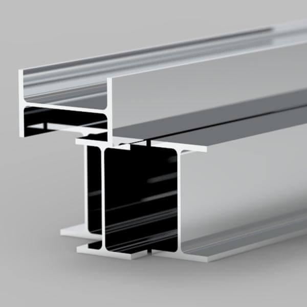 steel beam with mirror finish