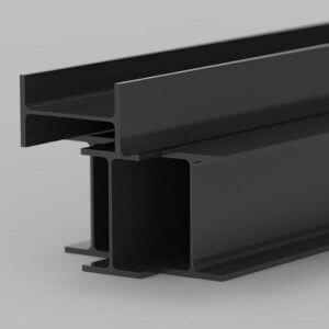 resin based powdercoat finish on steel beam