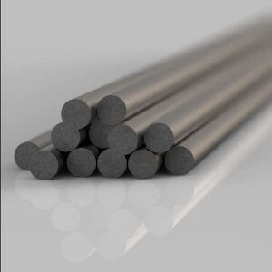 stack of steel round bars for use on steel balustrades