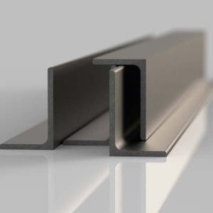 four lengths of self colour unequal steel angle
