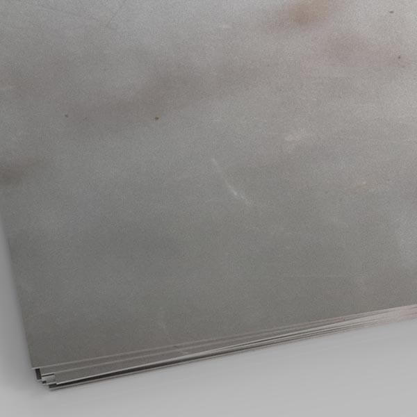 close up image of zintec steel sheet