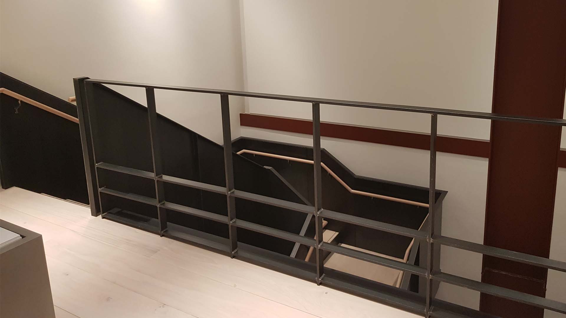 Steel Staircase and Balustrade for Marketing Suite – Soho Place, London