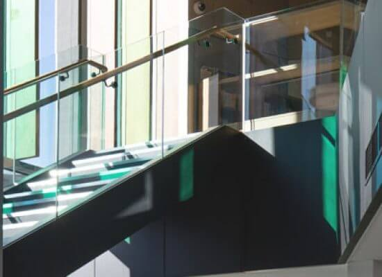 Steel staircases for public buildings
