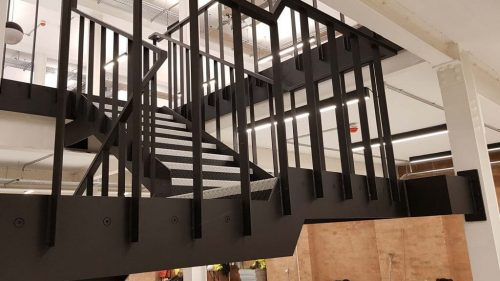 Steel Staircase - Office Refurb, Clerkenwell