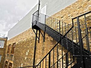 external steel stairs